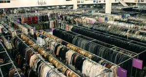 Rails of clothes.