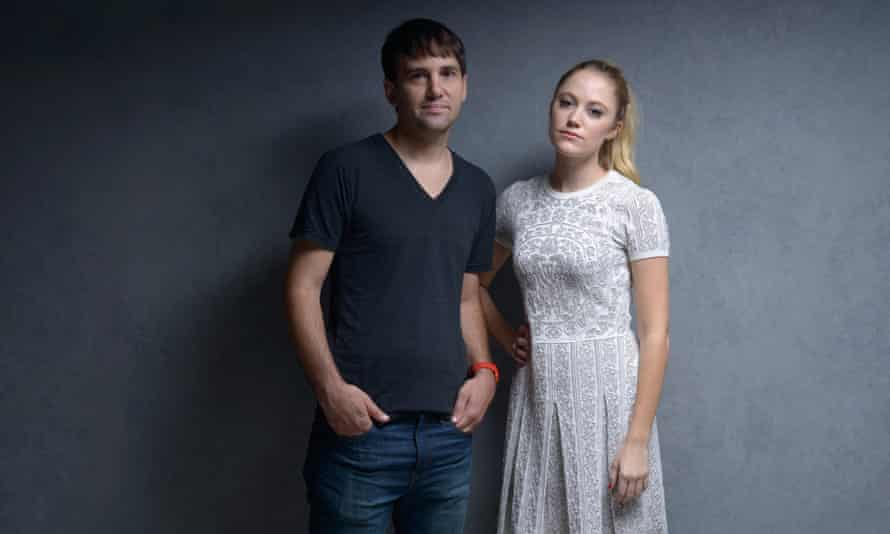 The It man and her: director David Robert Mitchell and star Maika Monroe.