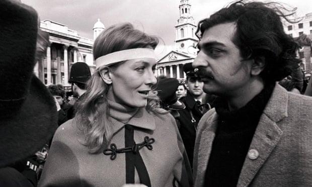 Vanessa Redgrave and Tariq Ali at an anti-Vietnam war demonstration in London in 1968.