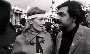 Vanessa Redgrave and Tariq Ali at an anti-Vietnam war demonstration in London in 1968.