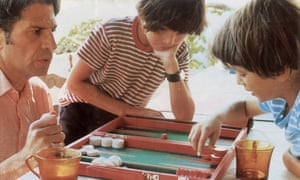 Ed and David Miliband play backgammon with their father, Ralph, in 1976