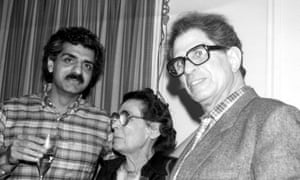 Tariq Ali with Ralph Miliband and Tamara Deutscher