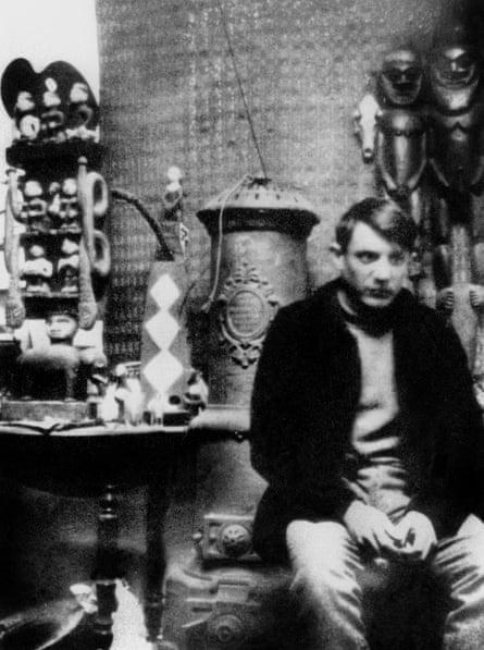 Picasso in 1908 in his workshop in Montmartre, Paris.