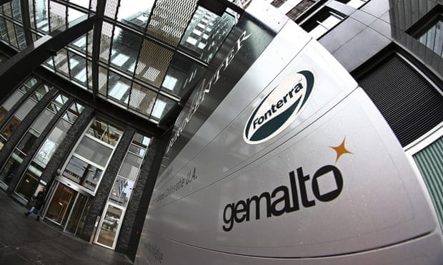 An exterior view of the building housing the head office of Gemalto in Amsterdam, Netherlands.