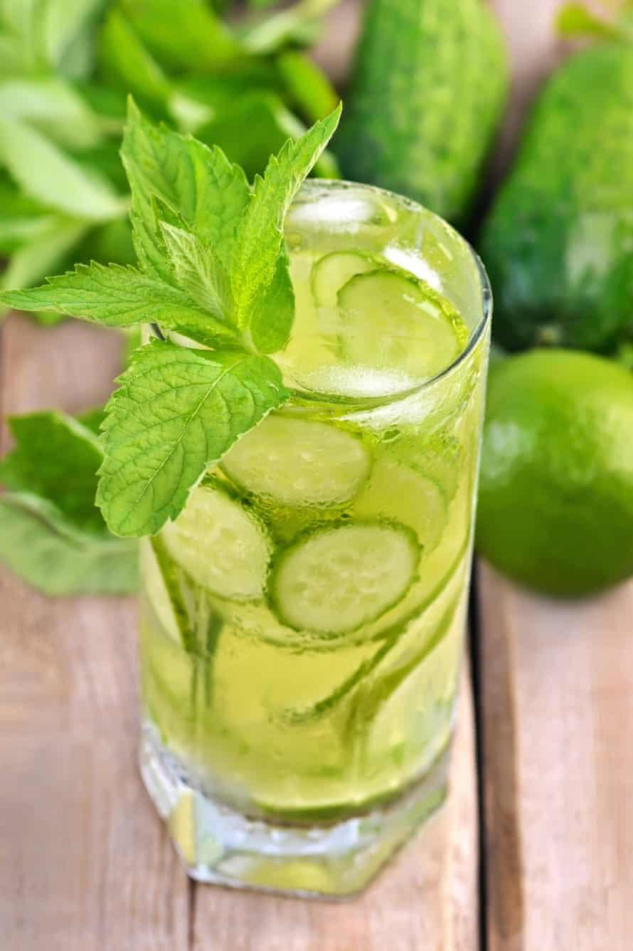In: cucumber soda.