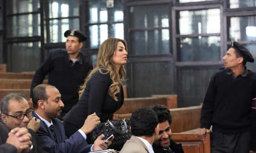 Marwa Omara, fiancee of Mohammed Fahmy, attends his trial in Cairo, last week.