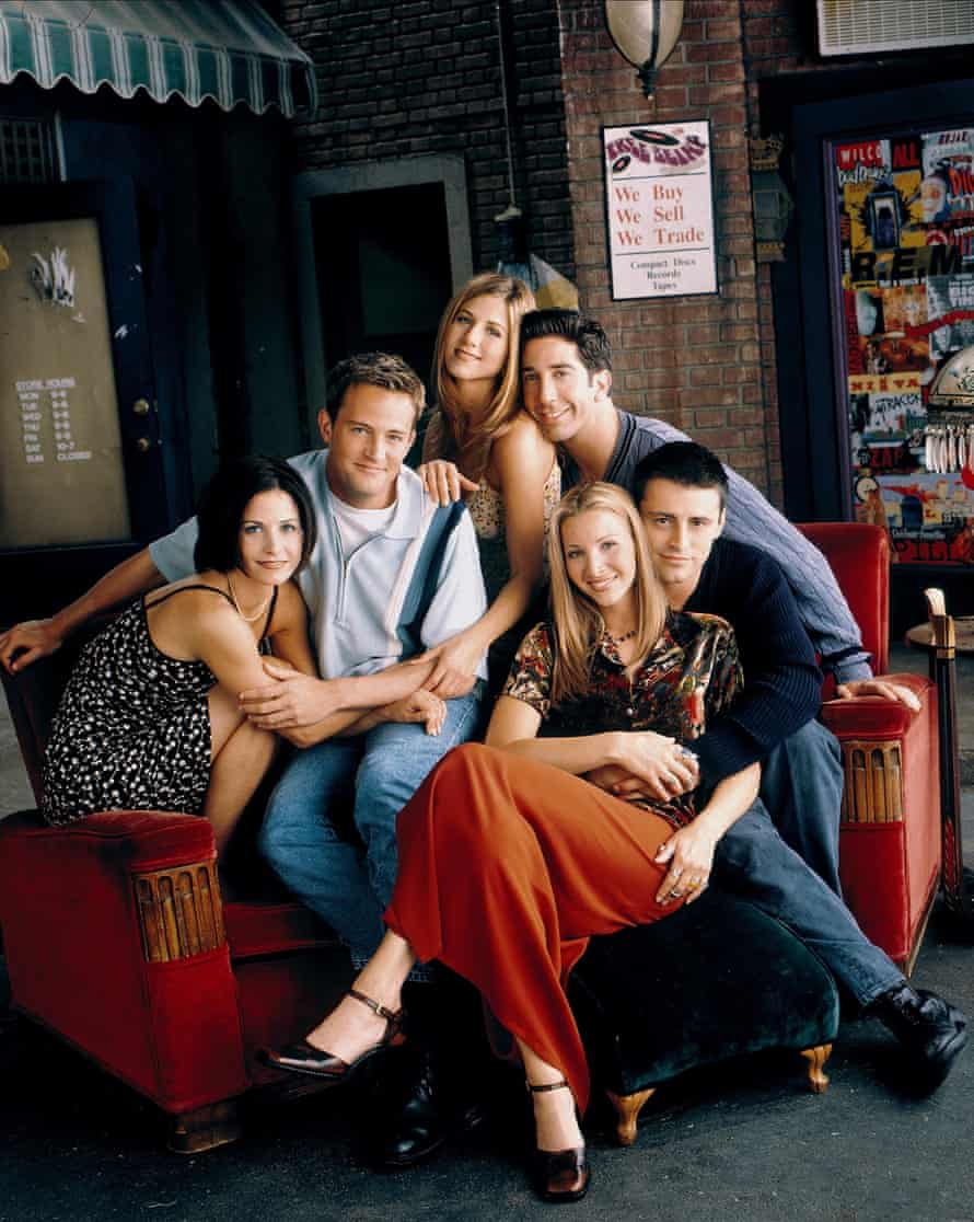 Kudrow with her co-stars in Friends, 2003.