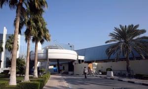 Al-Jazeera's main office building in Doha, Qatar.