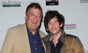 Stephen Fry and husband Elliott Spencer