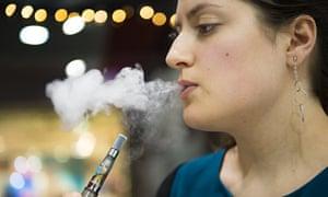 Vaper at an electronic cigarette shop
