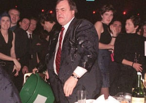John Prescott at the Brit awards in 1992.