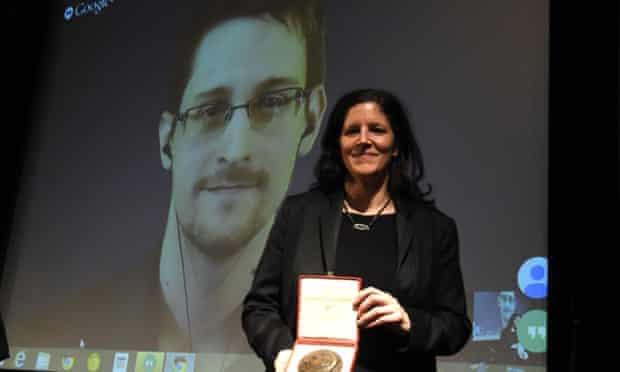Edward Snowden and Laura Poitras