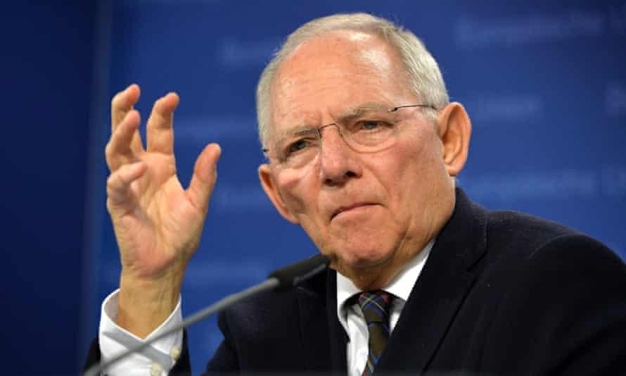 German finance minister Wolfgang Schäuble