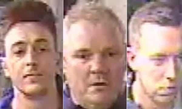 CCTV footage released by police show three men allegedly involved in the Paris incident