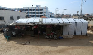 The shack in Beit Hanoun where Baby Salma lived with 14 members of the extended family