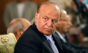 Yemen's former president Abd-Rabbu Mansour Hadi, in Sana'a in 2012.