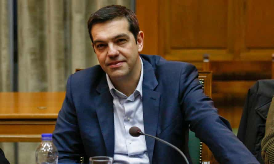 Greek prime minister Alexis Tsipras at a cabinet meeting on Saturday.