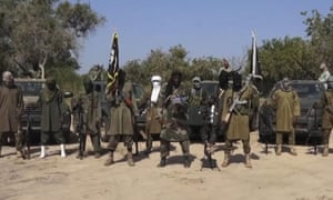 Boko Haram leader Abubakar Shekau (centre) claimed responsibility for the attack on the town of Baga last month in which as many as 2,000 civilians were killed.