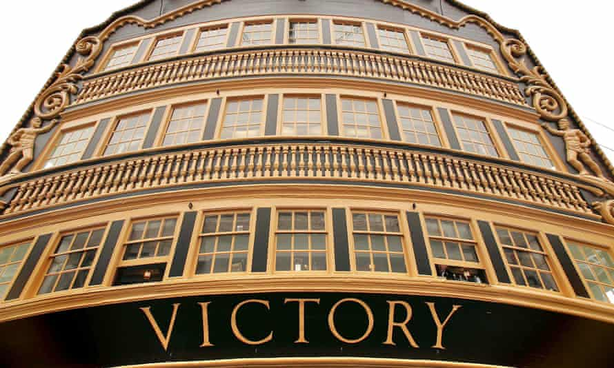 HMS Victory now stands in dry dock at Portsmouth dockyard.
