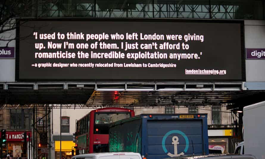 Another story of leaving London on the digital billboard in Holborn.