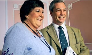 Rozanne Duncan and Nigel Farage at a Ukip meeting in Margate in 2014. Duncan claims the party expelled her in December without offering 'any sort of right to reply or disciplinary hearing'.