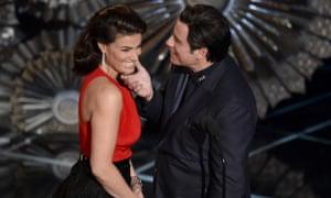 Idina Menzel and John Travolta