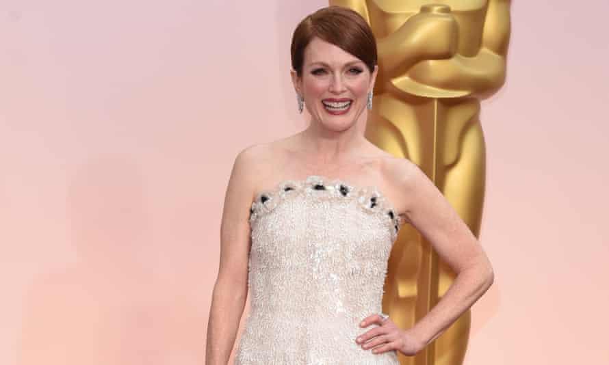 Oscar-winner Julianne Moore at last night's ceremony.