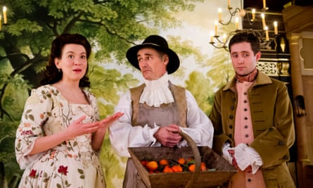 Melody Grove, Mark Rylance and Sam Crane in Farinelli and the King.