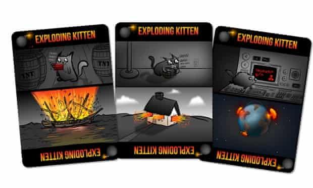 The Exploding Kittens card game raised $8.8m on Kickstarter.