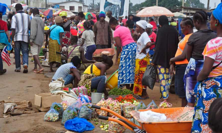Market in Monrovia, Liberia