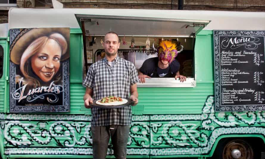 Simon Luardo with his Luardo's food van.