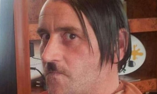 The image of Lutz Bachmann styled as Adolf Hitler was published by the Dresden Morgenpost after a reader spotted it on Facebook