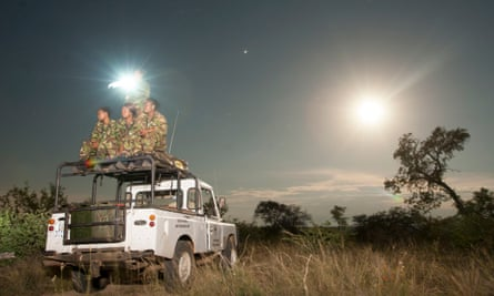 The first all-female anti-poaching unit in Africa, on patrol in Balule nature reserve.