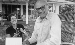 Inge Morath with Arthur Miller.