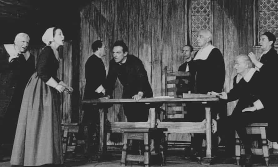 A scene from a 1953 production of The Crucible.