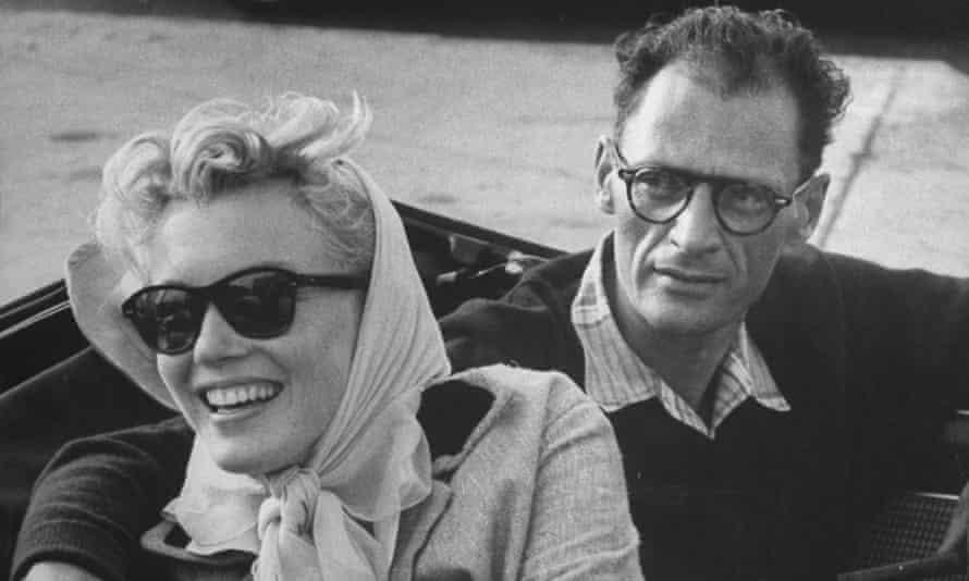 Marilyn Monroe and Arthur Miller in 1956.