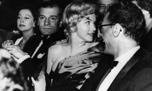 Vivien Leigh, Laurence Olivier, Marilyn Monroe and Arthur Miller at the opening night of A View from the Bridge in London.