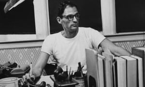 Arthur Miller at his desk in the mid-1950s.