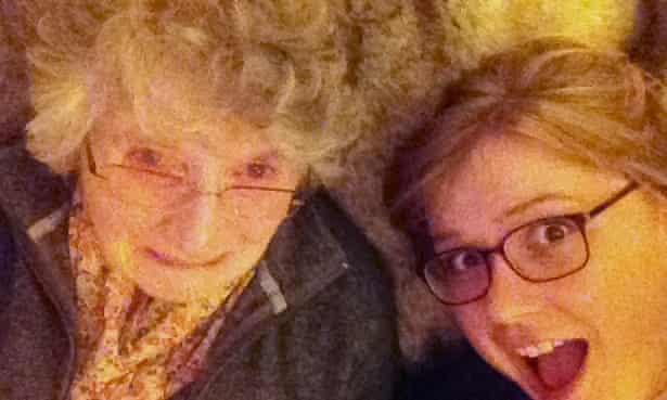 Picture of the author and her grandma