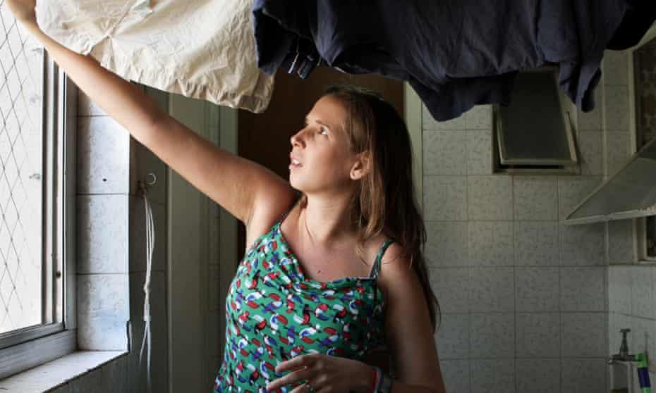 Isabela Berger Sacramento at her apartment.