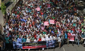 Garment workers protest in Bangladesh