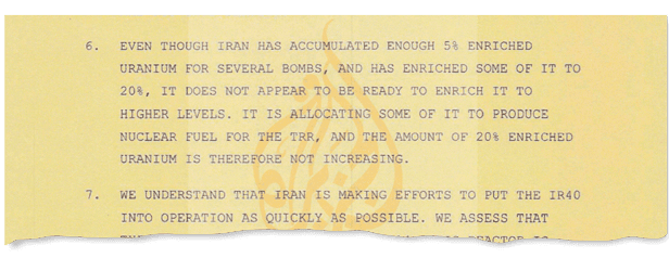 An extract from the document