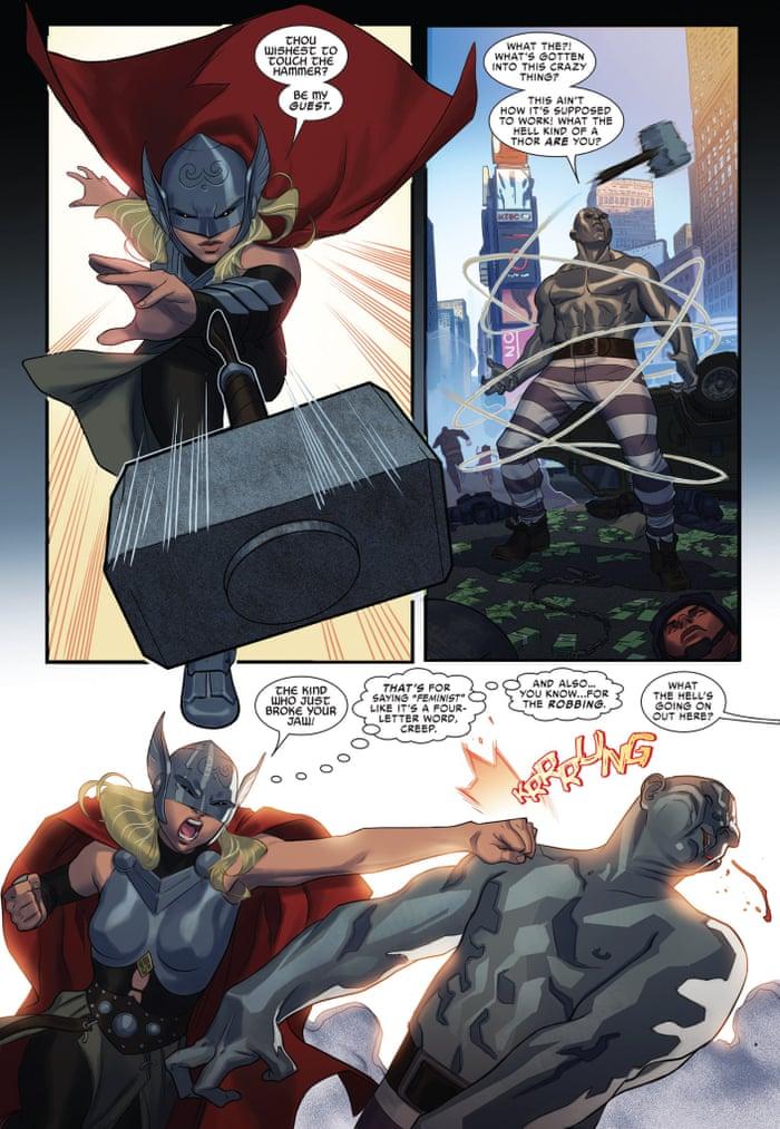 Marvel's female Thor attacks critics who say 'feminists are