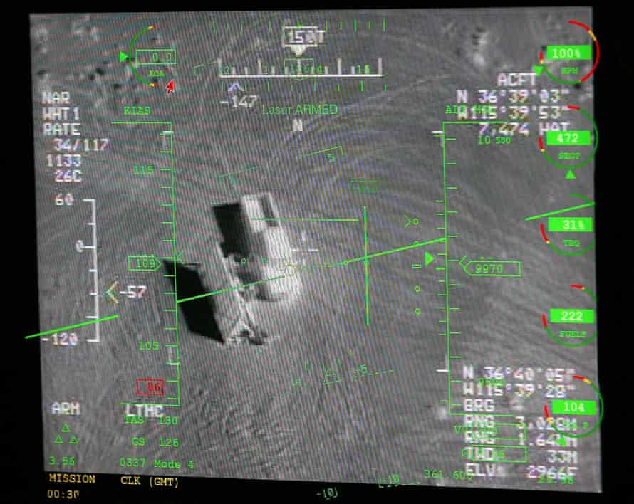 A pilot's display taken from an MQ-9 Reaper training mission.