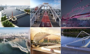 Special spans … Over 70 entries that have been received in the competition for a new bridge between Pimlico and Nine Elms.
