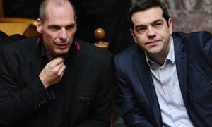 Yanis Varoufakis and Alexis Tsipras in Brussels
