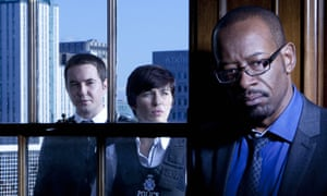 Lennie James with Martin Compston and Vicky McClure in Line of Duty.