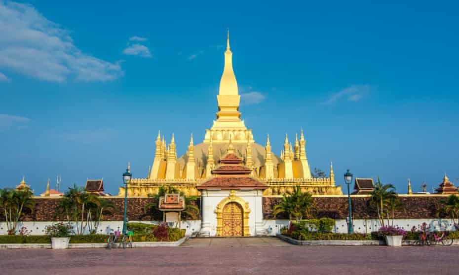 Pha That Luang (the 'Great Stupa') in the centre of Vientiane, capital of Laos.