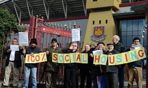 West Ham protesters