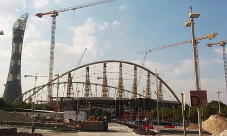 The Khalifa Stadium in Doha